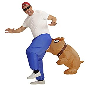 WIDMANN Disfraz 75506picada Papelera perro, unisex?Adultos, Azul/Marrón