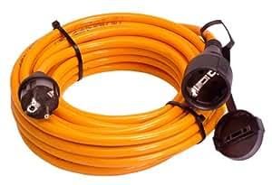 As-Schwabe 59150 Rallonge électrique de chantier 50m H07BQ-F 3G1,5, Orange, IP44 Chantier