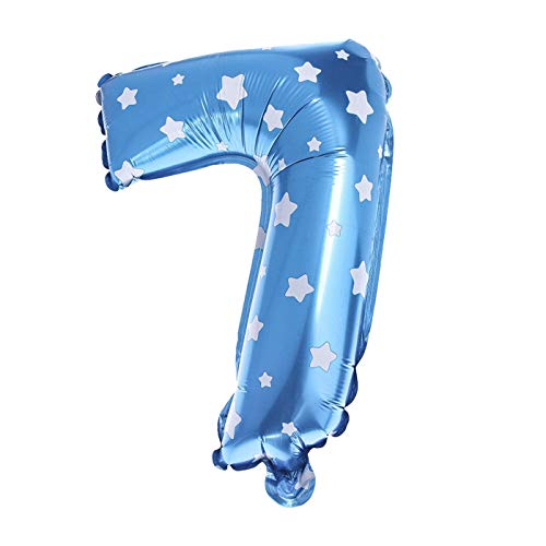ZZbaixinglongan Luftballon aus Aluminiumfolie, hohe Qualität, Zahl Heliumballon, für Geburtstag, Party, Hochzeit, Dekoration, Ball für Zuhause, Dekoration - Pink 7.