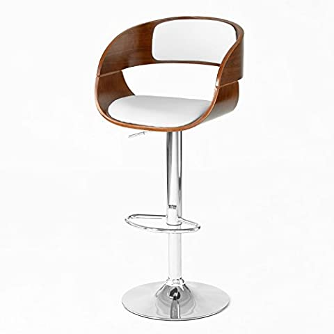SoBuy® FST22-W, Modern Design Bentwood Padded Bar Stool, Restaurant Kitchen