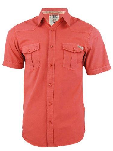 Tokyo Laundry -  Camicia Casual  - Classico  - Maniche corte  - Uomo Grapefruit