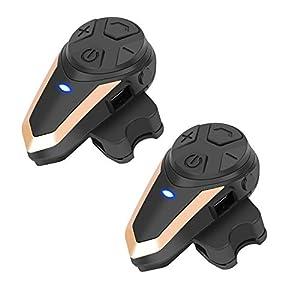 BETOWEY Intercomunicadores Casco Moto Bluetooth
