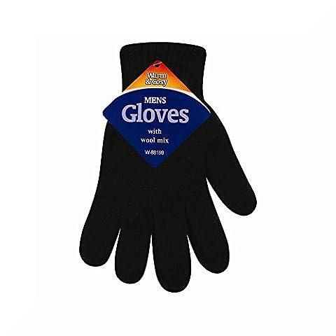 Men,s Gloves wool mix (Black)