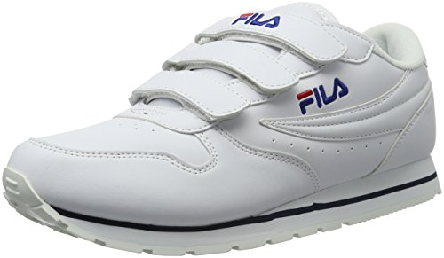 FilaOrbit Velcro Low - Scarpe da Ginnastica Basse Uomo , Bianco (Weiß (Bright White)), 41|#Men