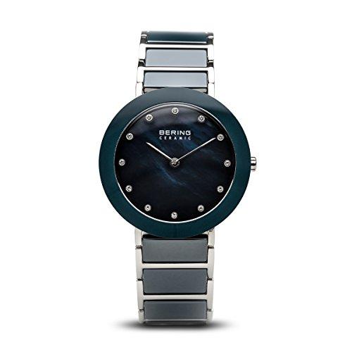BERING Damen-Armbanduhr Analog Quarz Edelstahl 11435-787