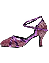 Dance Shoes FJY&WX Mujer Moderno Brillantina Sandalia Interior Tacón Personalizado Dorado Negro Plata Gris Morado...