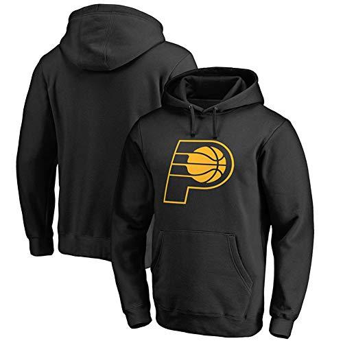 Indiana Pacers Herren Basketball Langarm Hoodie Jersey Sweatshirt Trainingskleidung Jungen Freizeit Print Pullover Sportswear Top Schwarz S-3XLBetreten Sie den Laden mehr-Black-S