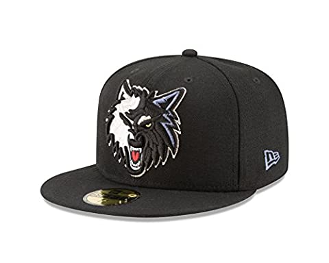 NBA Minnesota Timberwolves Logo Grand Fitted 59Fifty Cap, 7.125, Navy