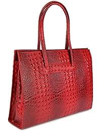 Belli , Sac pour femme à porter à l'épaule Rouge Rouge 40x30x10 cm (B x H x T)