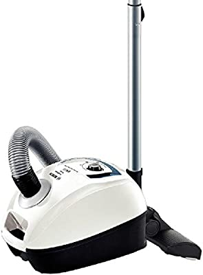 Bosch BGL4SIL69W - Aspirador con bolsa, 700 W, tecnología QuattroPower, color blanco