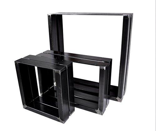 Magnetic Mobel 2X Tischgestell Tischkufen Rohstahl Design Industrielook Tischbeine Tischuntergestell Metall Stahl (800x720)