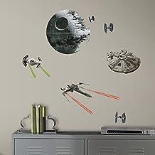 RoomMates RMK3012SCS - Pegatinas de pared, diseño Star Wars Naves clásicas