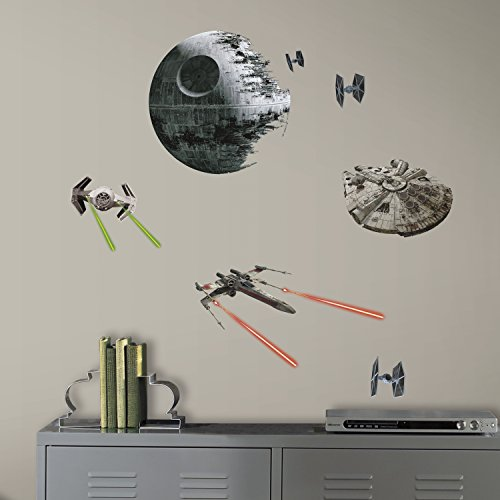 RM - Star Wars VI Raumschiffe Wandtattoo, PVC, Bunt, 29 x 13 x 2.5 cm (Erwachsene Piraten Prinzessin Kostüme)
