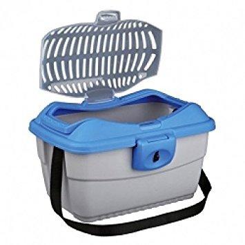 Preisvergleich Produktbild Trixie Kleintier-Transportbox Mini-Capri - hellgrau / blau