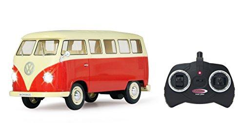 RC Auto kaufen Spielzeug Bild: Jamara 405119 - VW T1 Classic Bus 1:16 1963 2 Kanal 2,4GHz - LED, detailgetreuer Innenraum, Fahrzeugdetails in Chrom: Scheibenwischer, Radkappen, Außenspiegel, Türgriffe, Scheinwerfereinfassungen*