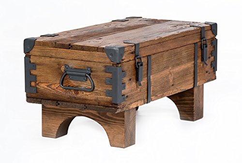 Own design tavolino old travel baule masive pino cottage vintage petto 37cm altezza/38.5cm profondità/77cm larghezza