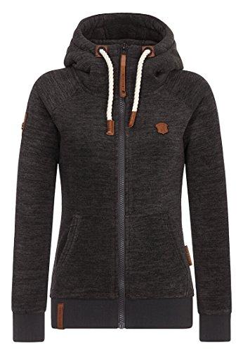 Naketano Female Zipped Jacket Gigi Meroni Pimped Dirty Livid Grey Melange, L