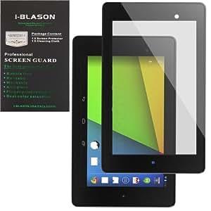 i-Blason Google The New Nexus 7 2 FHD (2nd Generation) HD Matte Bubble Free Screen Protector Reusable Anti Glare (Black)