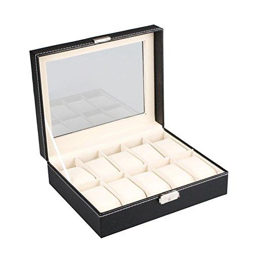 vicloon-caja-de-almacenamiento-caja-de-reloj-de-cuero-con-cerradura-y-relojes-almohadas-10-parrillas