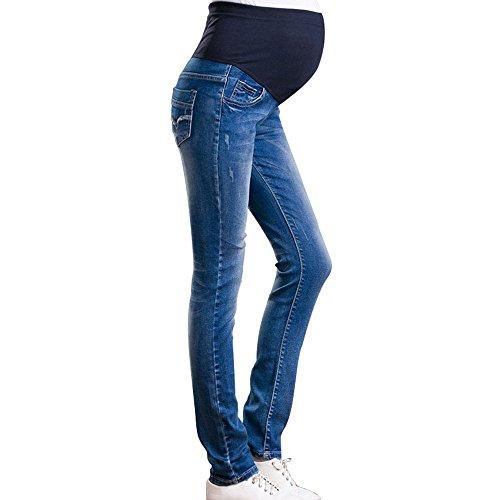 2018 primavera estate nuove donne premaman jeans, girovita regolabile morbida pantaloni jeans elastici