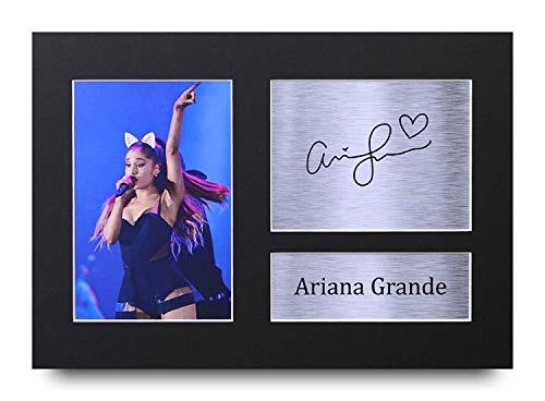 HWC Trading Ariana Grande Geschenke Unterzeichneten A4 Gedrucktes Autogramm Musik Druck-Foto-Bilderanzeige