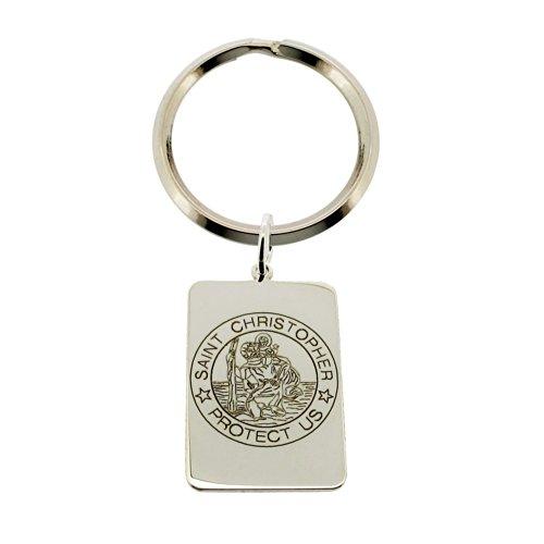 Christopher James of London Llavero, 925 Sterling Silver (plata) - STCHRIS-SILVER-CJ-KEYRING-17x25