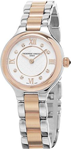 FREDERIQUE CONSTANT Damen Datum Norm Quarz Uhr mit Edelstahl Armband FC-200M1ER32B