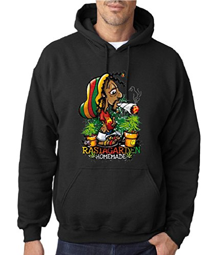 Weed Rasta Garden Homemade caribbean Men Hoodies All sizes colors
