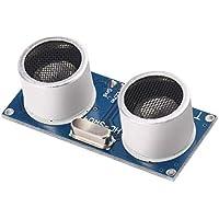 Formulaone Módulo De Sensor Ultrasónico Hc-Sr04 Transductor De Medición del Sensor De Distancia para Arduino Alta Technolo Azul Y Plata