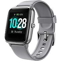 Montre Connectée Femmes,Montre Intelligente Homme IP68Etanche Bracelet Connecté Cardio Podometre Smartwatch Sport Fitness Tracker d'Activité Contrôle de la Musique pour Android iPhone (Gris)