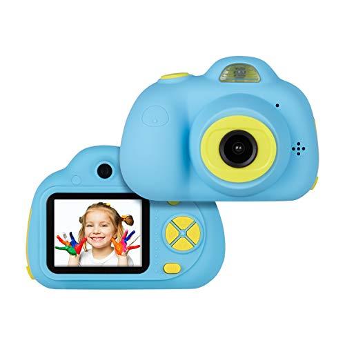 """Tyhbelle Digital Kamera für Kinder 2.0\"""" IPS-Bildschirm 8MP HD mit 2 Objektive für kleine Mädchen mit Aufklebern und USB Kabel (Blau)"""