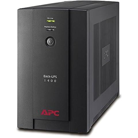 APC Back-UPS BX 1400VA - BX1400U-GR - Sistema de alimentación ininterrumpida SAI - 4 tomas