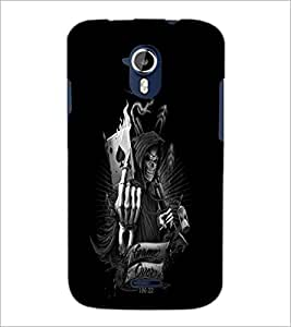 PrintDhaba Warrior Skull D-2308 Back Case Cover for MICROMAX A116 CANVAS HD (Multi-Coloured)