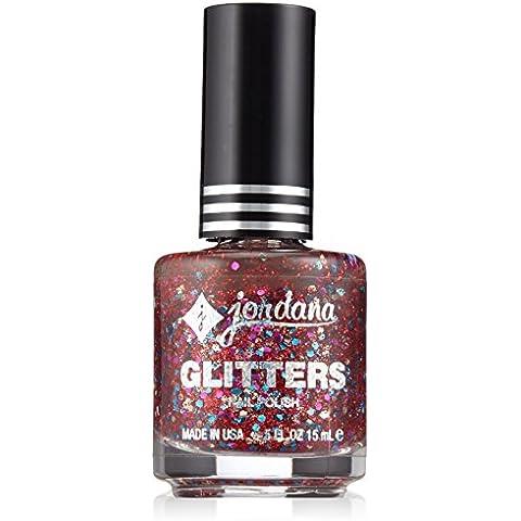 Jordana Glitters Esmalte de Uñas - lentejuelas, Paquete 1er (1 x 1 pieza)