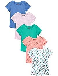 next Niñas Pack De Cinco Camisetas Manga Corta Varios Colores (3 Meses - 6 Años) Corte Estándar