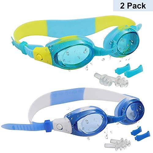 Bezzee-Pro Pack 2 Gafas Natación Niños 2 Pares Puentes