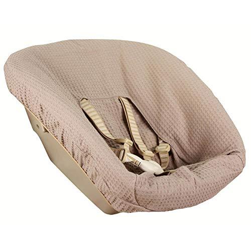 Bezug Stokke Tripp Trapp Newborn Set Taupe Einfarbig Waffelpique Öko-Tex 100 Baumwolle Recycelbar Schweißabsorbierend und Weich für Ihr Baby