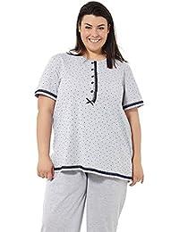 Pijama mujer verano tallas grandes. Varios Estampados. Manga corta y pantalón largo Tallas grandes