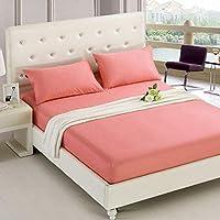 SHEETS&BED Puro Color bedhuazhi Pulido Cama Manga Color Puro Multi-especificación Cama Hotel colchón Simmons