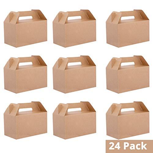 Cajas Regalo Papel Kraft Pack 24 - 16cm Largo x 9cm