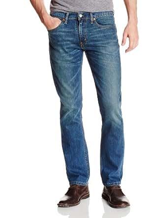 Levis - Jean - Homme - 511 Slim Fit Stretch Throttle Blue - Bleu Moyen Delavé - W32 L32