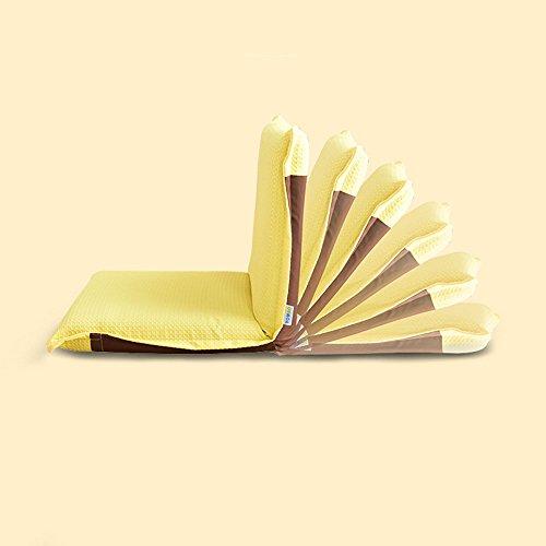 Chambre paresseux chaise pliante chambre à coucher Casual bleu / Orange / jaune / Beige ( Couleur : Le jaune )