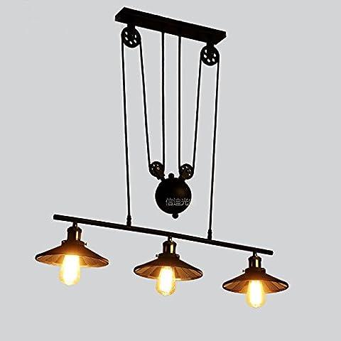 LLYY-Sollevamento lampada a sospensione di ferro 3