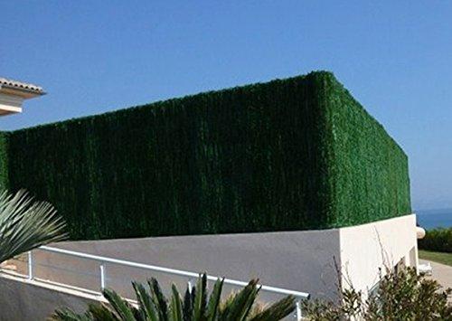 Haie artificielle SUPRA 126 brins en PVC coloris vert thuyas - Dim : 1,80 m x 3 m -PEGANE-