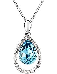142682c909e1 MYVIYSENY Joyería Elegante Pendiente con Forma de Gota del Collar de la  Moda para Mujer con