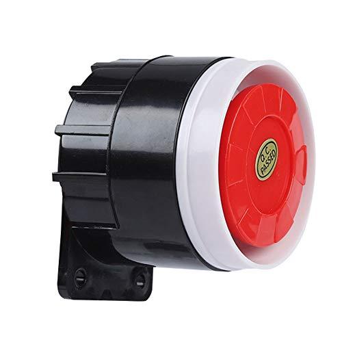 VBESTLIFE Verdrahteter Sirenenklang, 120dB DC 12V Mini Rot verdrahtete Hupensirene Sound Alarm System Warnhorn Rote Mini-system