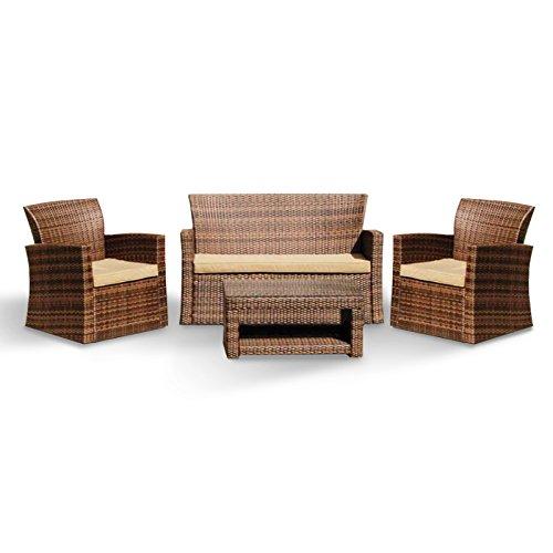Salotto salottino polirattan divano poltrone tavolino design giardino MO416-22