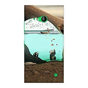 Stylish Wonderful Bulb Multicolor Back Case Cover for Lumia 730