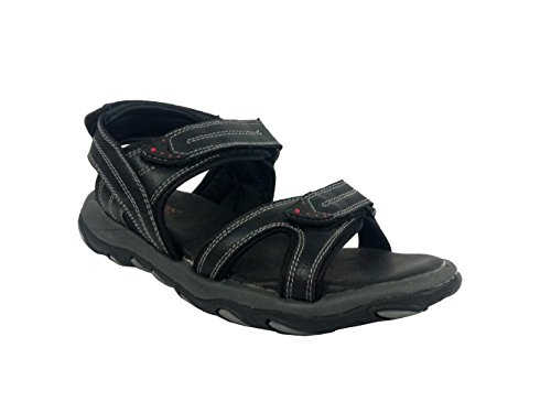 Fuzion Men's Black Sandal - 10 UK  available at amazon for Rs.498