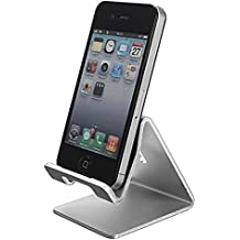 ELEGIANT Universell Aluminium Alloy Stand Halterung Handy Telephone Staender Halter Stand Pr Fuer iPhone 6 5S 5 4GS Galaxy S4 S5 iPad iPod Note 3 E-Book Reader Tablet PC